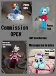 Amigurumi commissions are OPEN