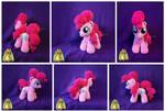Plush crocheted Pinkie Pie