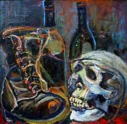 Bottle, Boot and Skull 2