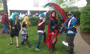 Reese, Yang, Neptune, Ruby, and Soldier 76