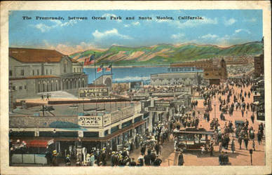 Santa Monica Promenade Early 1900s by dofaust