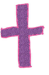 glitter cross by littlesonic1234