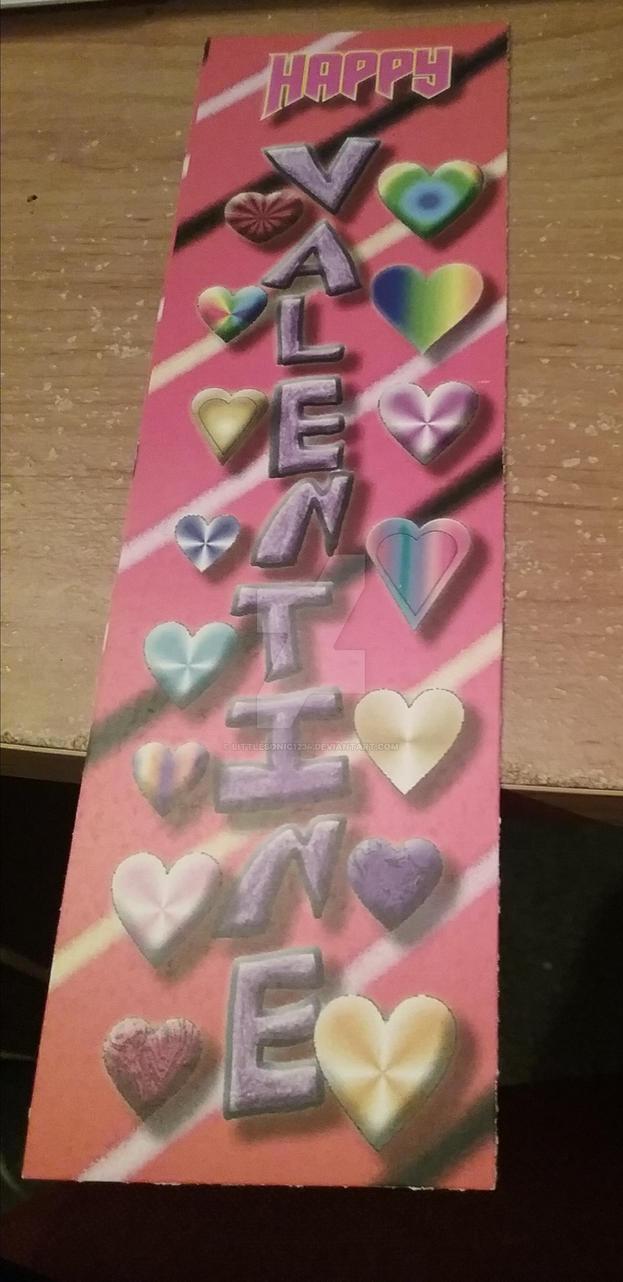Valentine bookmark by littlesonic1234