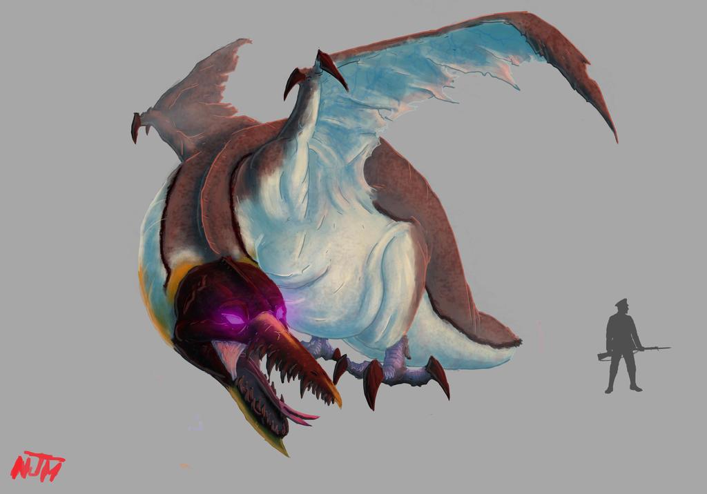 Dragon manchot by Binrod