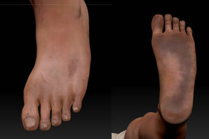 ZBrush Polypaint Feet by KevinMassey