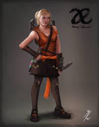 Allied Enemies - Janey Warren Concept Art by KevinMassey
