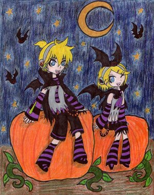 Halloween by gobixhoukou by Vocaloid-Fans
