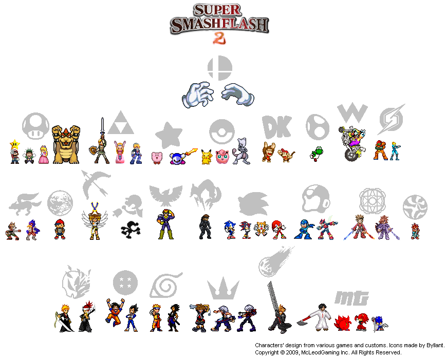 The Super Smash Flash 2 Icons by Byllant on DeviantArt