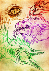 Scaley Faces by OpalAcorn