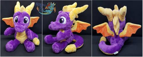 Spyro the Dragon sitting plush by Abundance-Of-Fluff