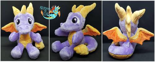 Spyro the Dragon Plush by Abundance-Of-Fluff