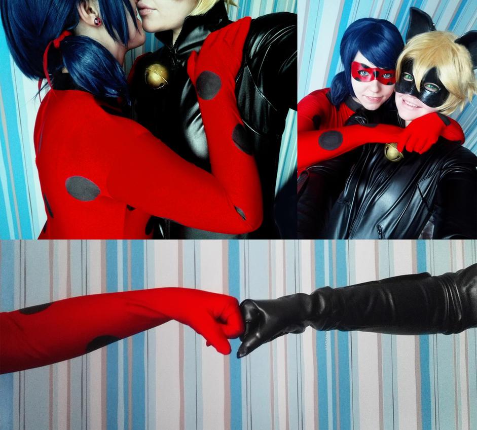 Miraculous Ladybug and Chat Noir by linasakura