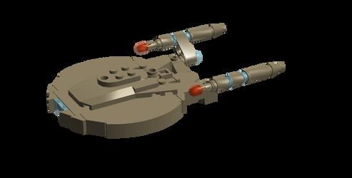 NX-01 Enterprise with deflector notch by DalekOfBorg