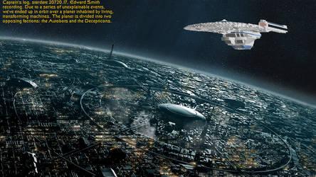 Titanic Refit over Cybertron by DalekOfBorg
