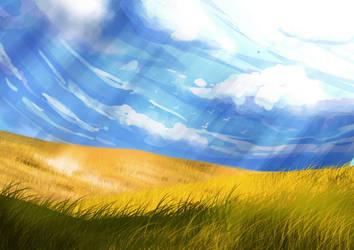 Landscape doodle by Lacerare