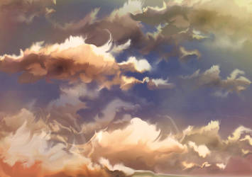 sky practice by Lacerare