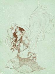 Chilly Belly Dancer - LineArt by Orhasket