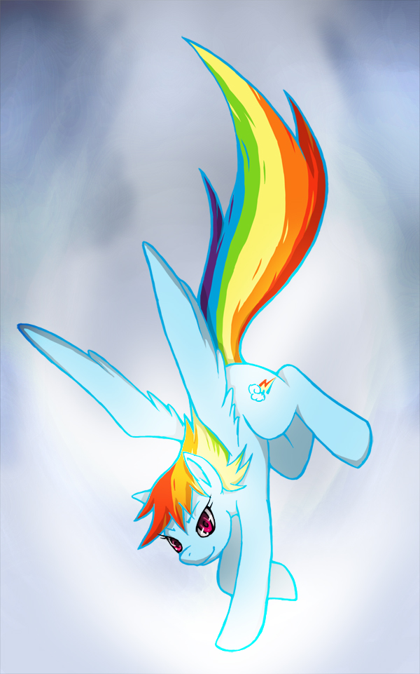 Rainbow Dash of MLP:FIM by shonen-shonen
