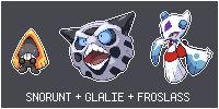 Snorunt + Glalie + Froslass