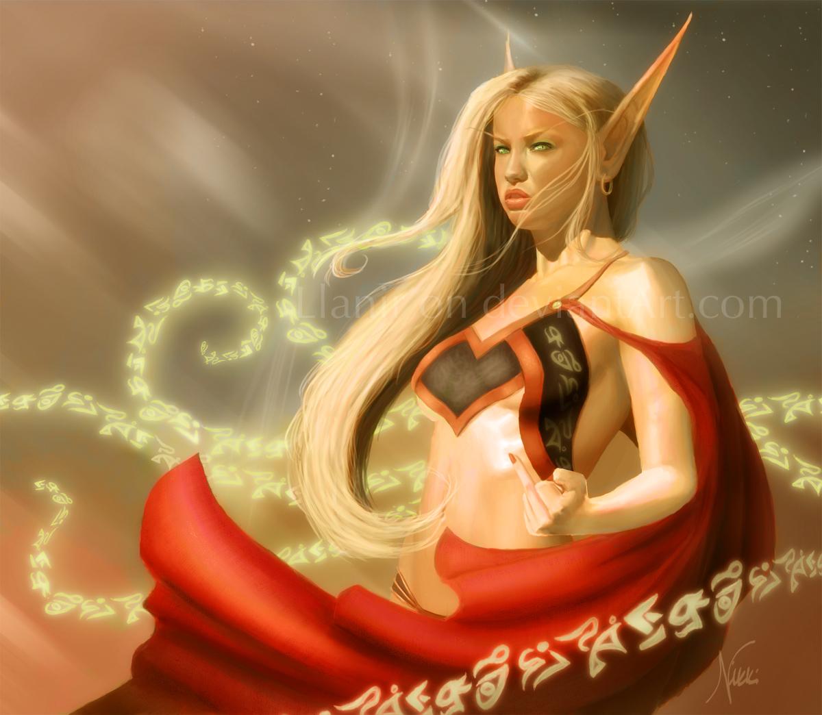 Jizzart blood elf sucks dragons cock nude streaming