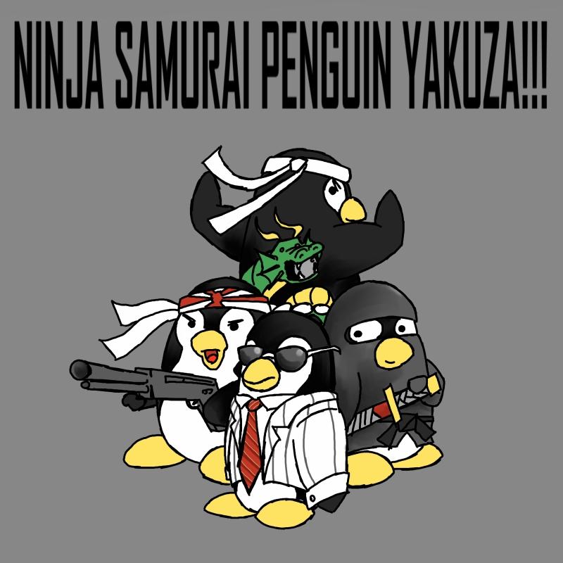 Ninja Samurai Penguin Yakuza by MichaelBeckett