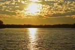 Golden Lake Sunset Stock by Things0fMagic