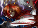 Battousai vs Youkai Inu by Soulfire7609