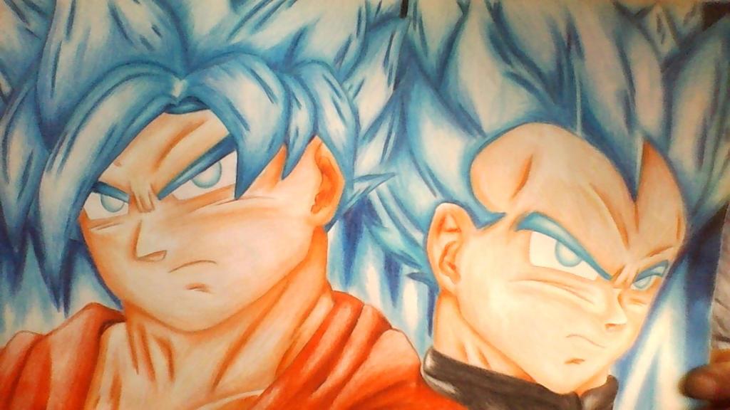 Goku Y Vegeta SSJ Dios Azul By ShadeFlare On DeviantArt