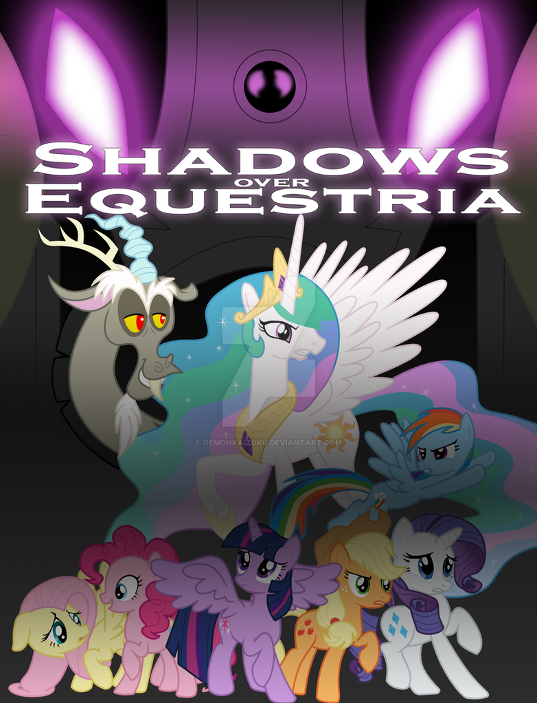 MLP: FIM - Shadows Over Equestria Fanfic Cover by DemonKaizoku