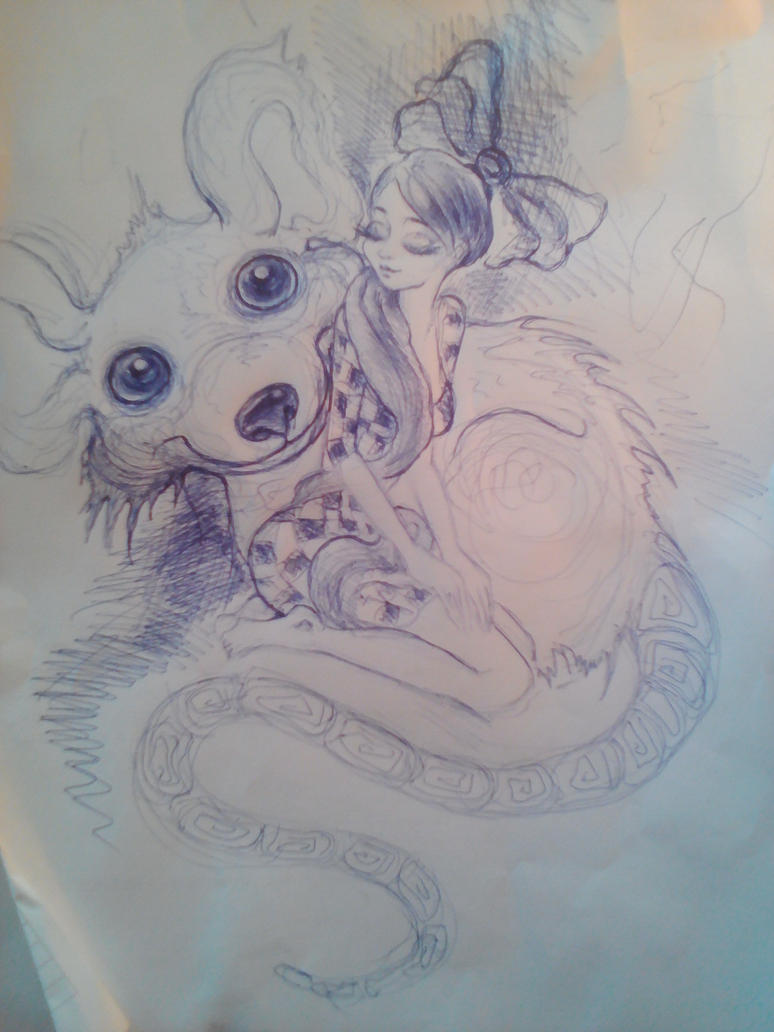 lady and her rat pet by Rosssallinda