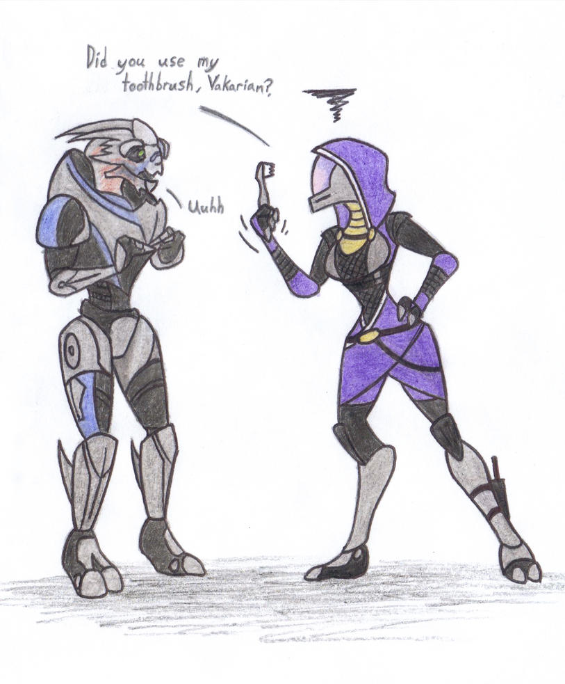 Tali's toothbrush by fakefrogs