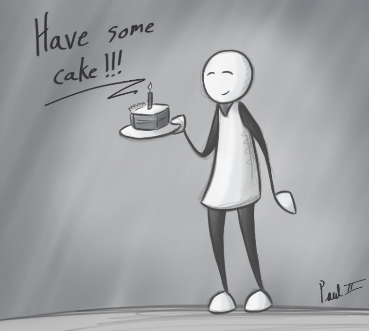 Cake by fakefrogs