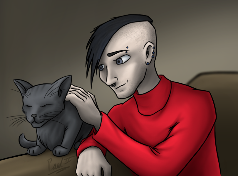 Alex and Kitty for ZimmyRose by fakefrogs