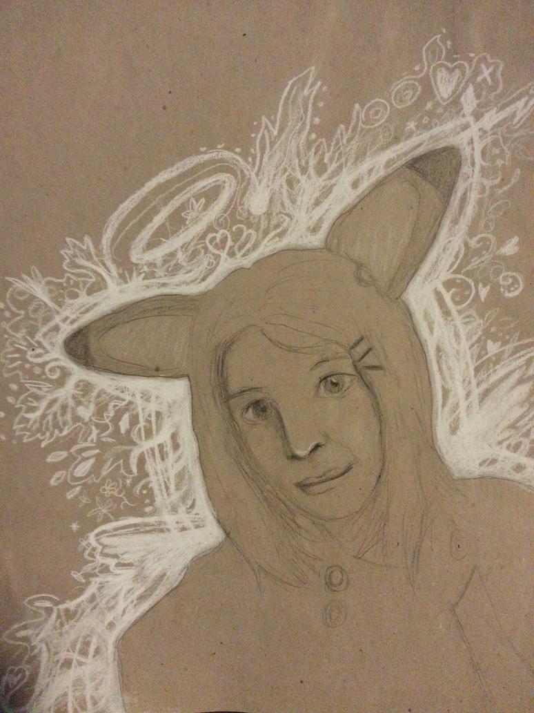 Self Portrait in cosplay by Wildpurplechild