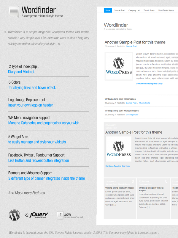 WP Wordfinder Theme by FalconXp