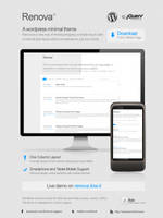 Renova Wordpress Theme Mockup by FalconXp
