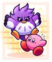 Coo and Kirby by MegaBuster182