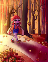 Falling leaves by MegaBuster182