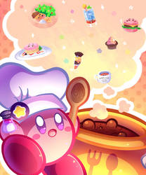 Kirby Cafe by MegaBuster182