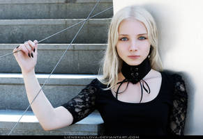 STOCK - Blonde in Black 03 by LienSkullova