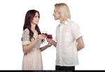 STOCK PNG - Romantic Couple Drinking Wine