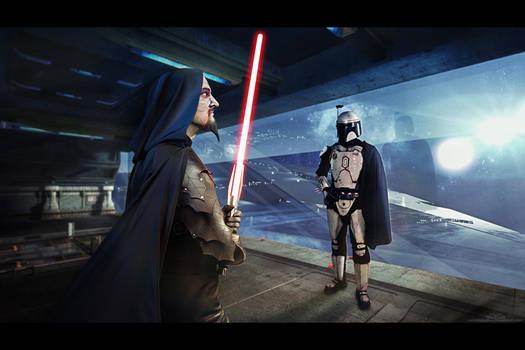 Star Wars: Taskmaster and Mandalorian General by LienSkullova