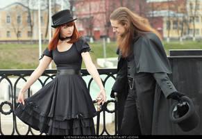 STOCK - Gothic Aristocratic Couple 04 by LienSkullova