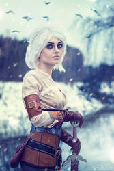 Ciri (WITCHER cosplay) by LienSkullova