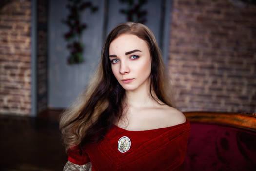 STOCK - Girl in Red Dress #7