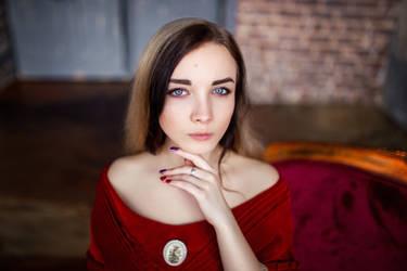 STOCK - Girl in Red Dress #8