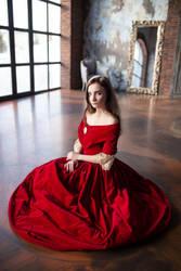 STOCK - Girl in Red Dress #9