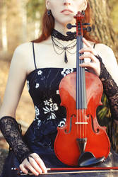 STOCK - Girl with a Violin #2