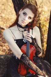STOCK - Girl with a Violin #3
