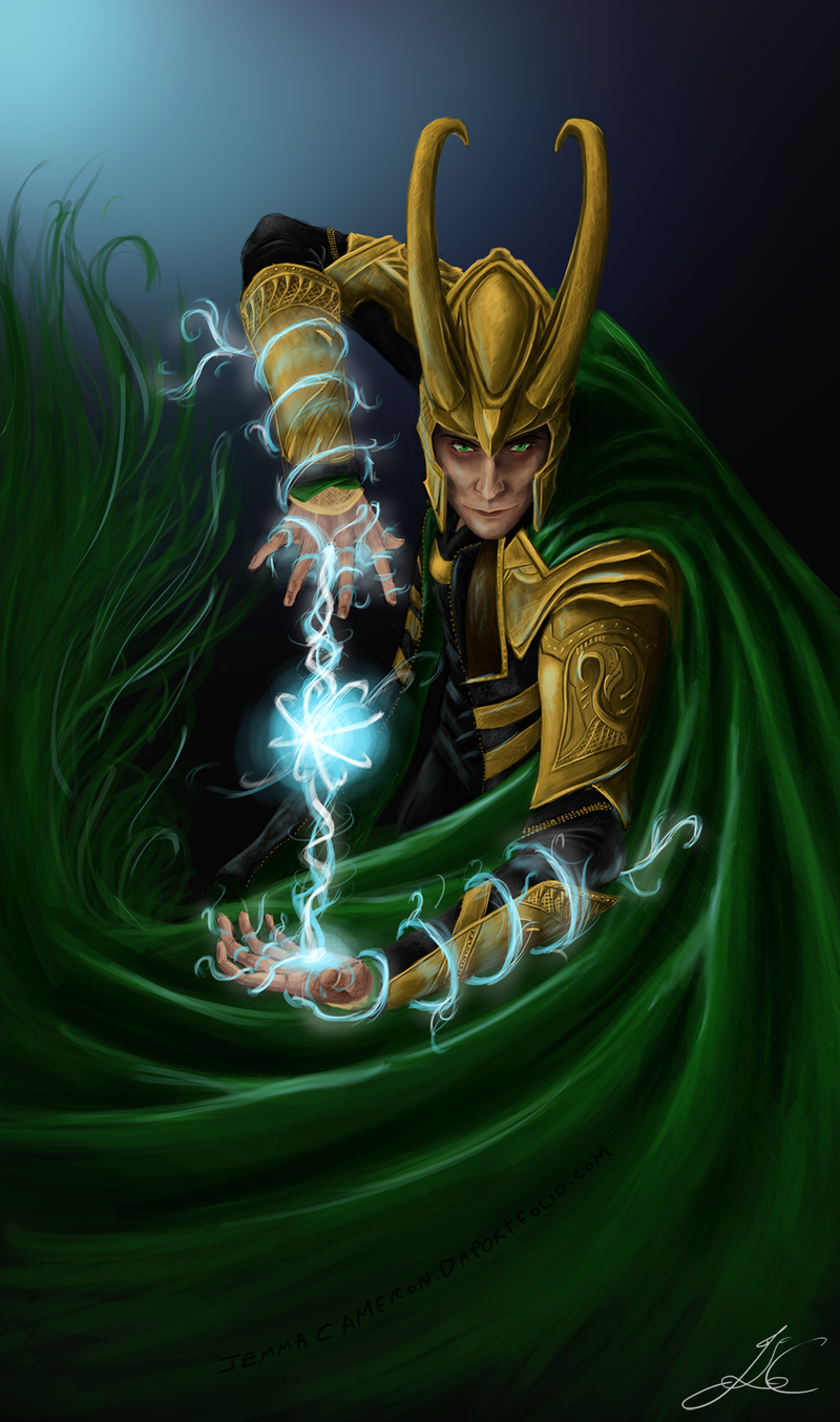 Loki - God of Mischief by JemLeigh on DeviantArt